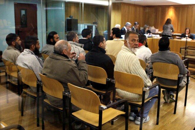 12-11-2009: Primera jornada del juicio a los once acusados de tratar de volar el metro de Barcelona. © DR