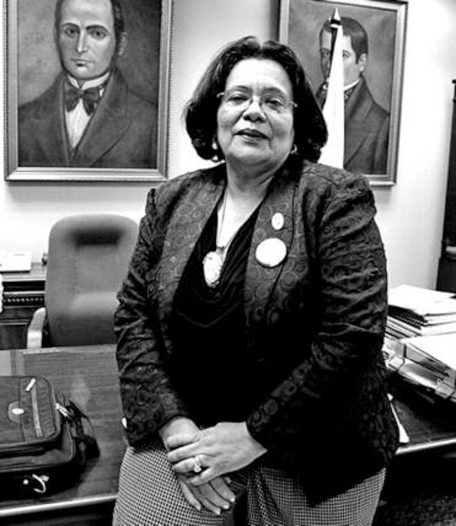 Julieta Castellanos, dans son bureau de l'Université autonome de Tegucigalpa.