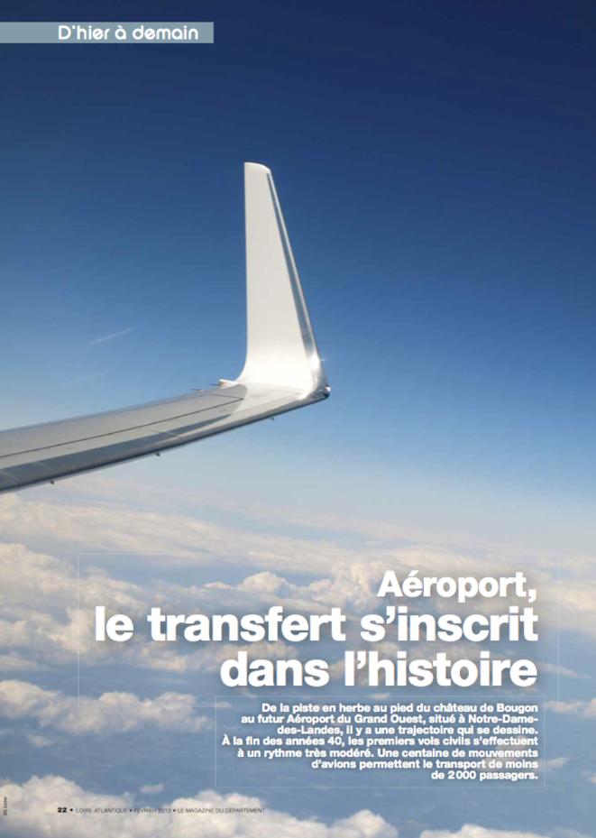 Article du magazine Loire-Atlantique de février 2013.