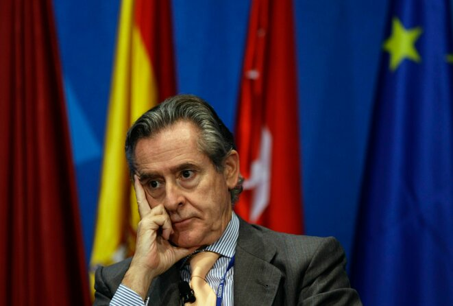 Miguel Blesa en 2008, lorsqu'il était président de Caja Madrid. © Sergio Perez/Reuters