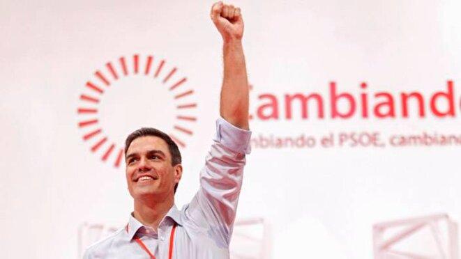 Pedro Sánchez en la clausura del congreso extraordinario del PSOE. © PSOE