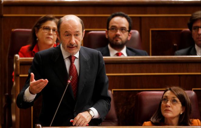 Alfredo Pérez Rubalcaba en el Congreso. © dr