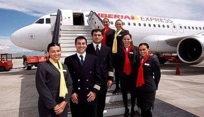 L'équipage d'un avion low cost d'Iberia.