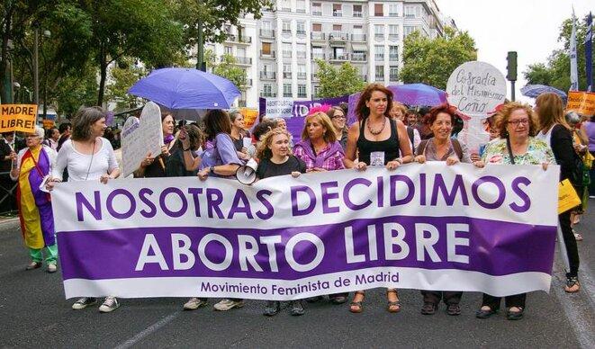 Manifestación en Madrid por el aborto libre, 27 de septiembre de 2013. © gaelx