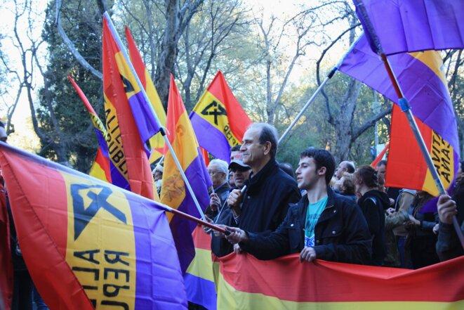Miles de banderas republicanas salpicaron las marchas de la dignidad el pasado mes de marzo. © Saila Marcos