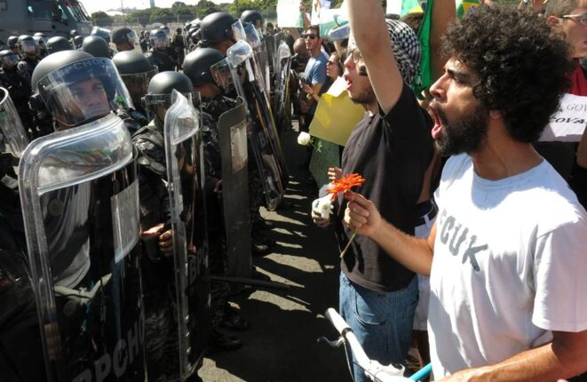 Protesta social en junio. © dr