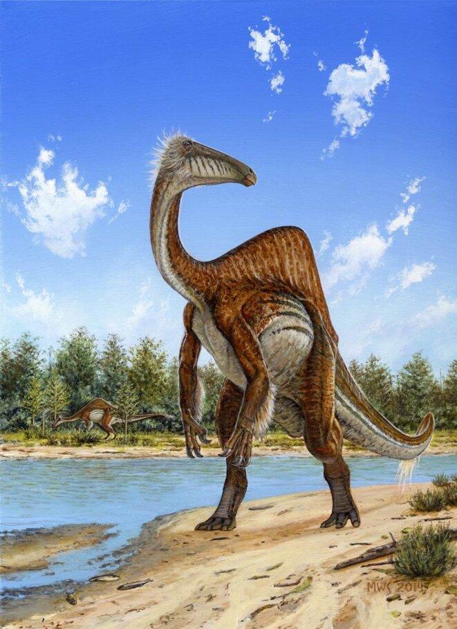 Reconstitution artistique de Deinocheirus mirificus © Michael Skrepnick