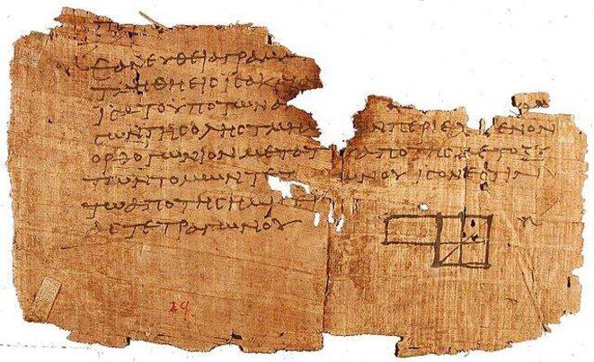 Manuscrit d'Euclide © DR