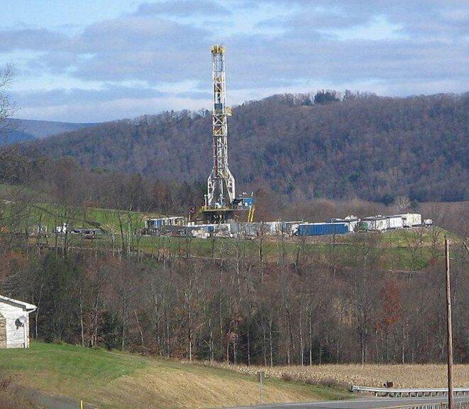 Puits de gaz de schiste en Pennsylvanie
