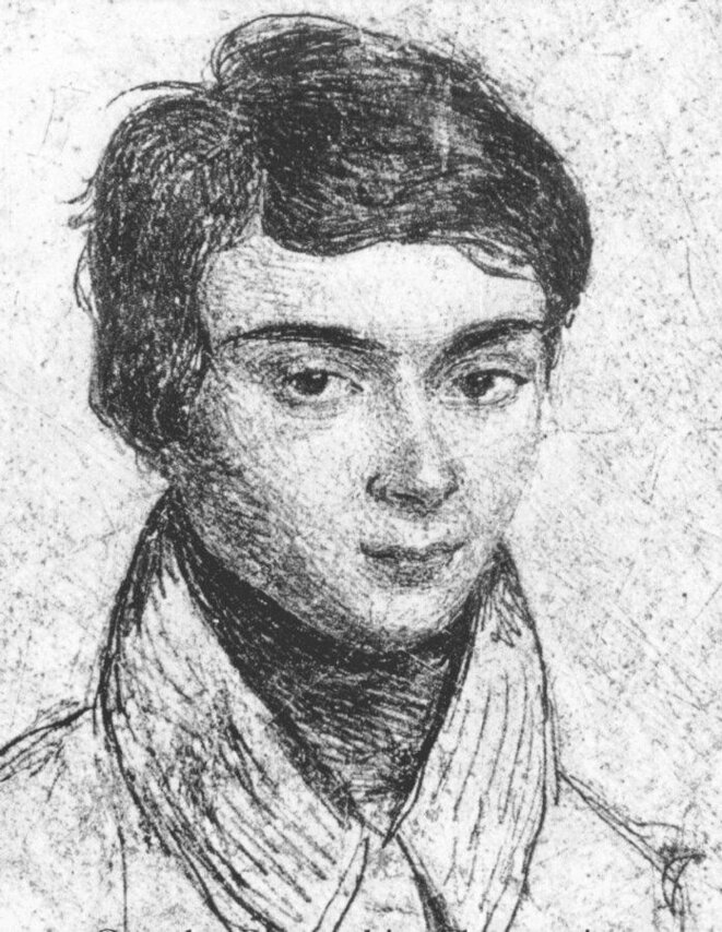 Evariste Galois à 15 an dessiné par sa soeur © DR