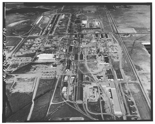 L'usine de Rocky Mountain Arsenal (sud) vers 1970
