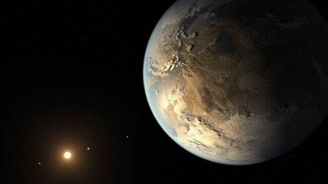 Représentation artistique de Kepler 186-f © Nasa
