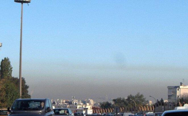 Pollution atmosphérique au sud de Paris © Céréales Killer