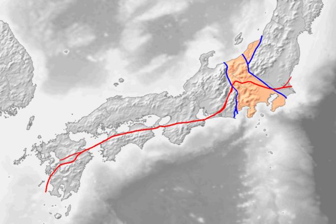 Carte tectonique du Japon © DR