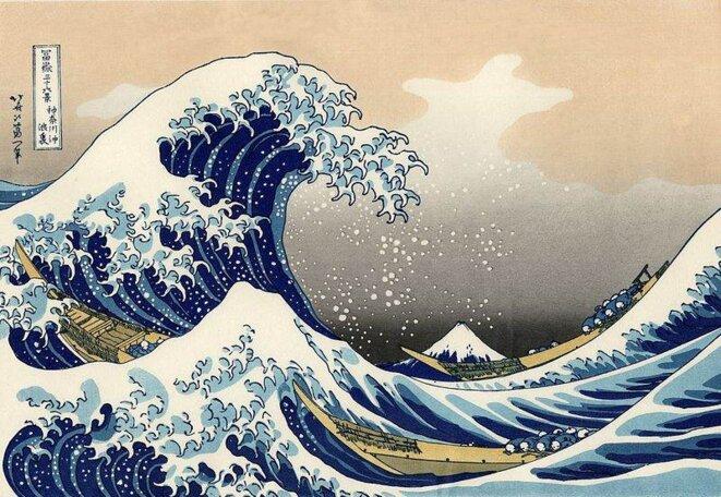 La grande vague de Kanagawa © Copie d'après Hokusai
