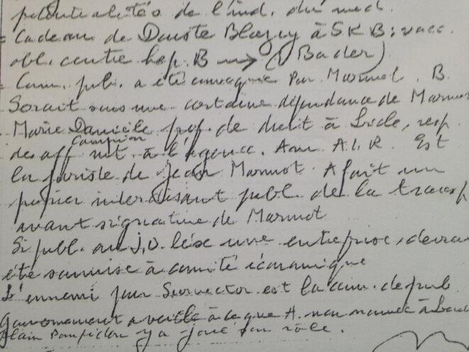 Extrait de la note de Servier du 8 juillet 1994
