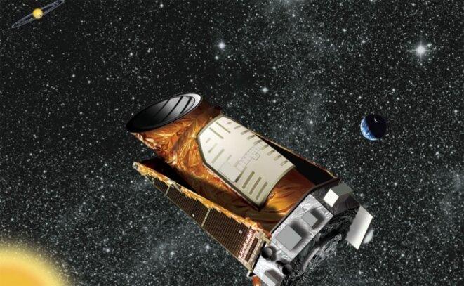 Vue artistique du télescope spatial Kepler © Nasa/Wendy Stenzel