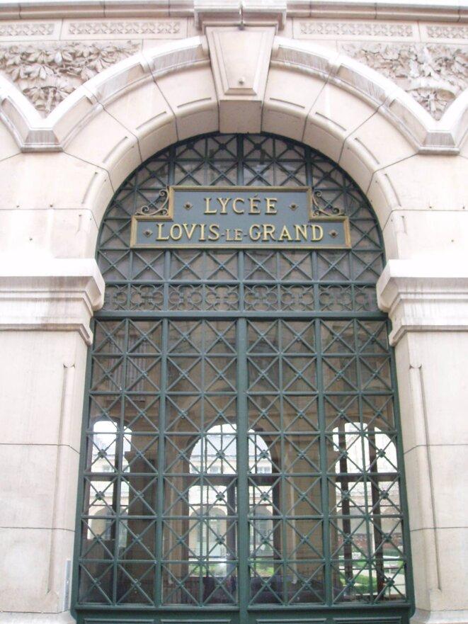 Entrée du Lycée Louis-le-Grand © DR