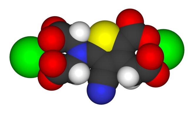 Modèle 3D du ranélate de strontium, molécule du Protelos