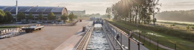 Delta Flume, la nouvelle machine à vagues installée à Delft (Pays-Bas) © DR