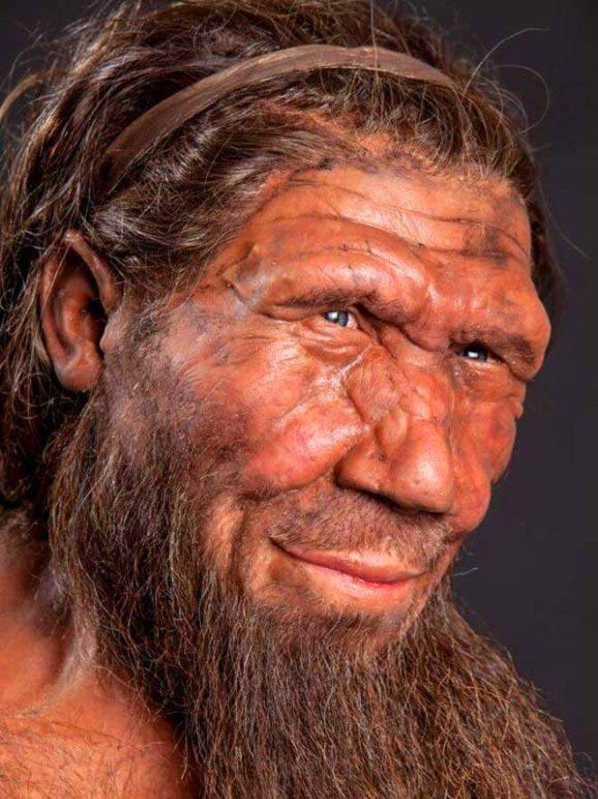 Vue artistique d'un Néandertalien © Museum d'histoire naturelle de Londres