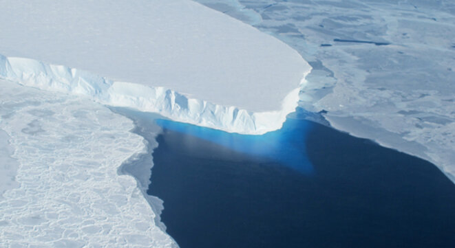 Le glacier de Thwaites, en Antarctique, est en train de fondre.
