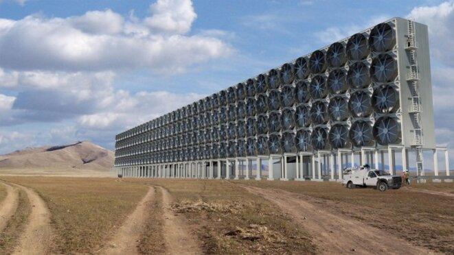 Installation de capture du CO2 dans l'atmosphère © CARBON ENGINEERING