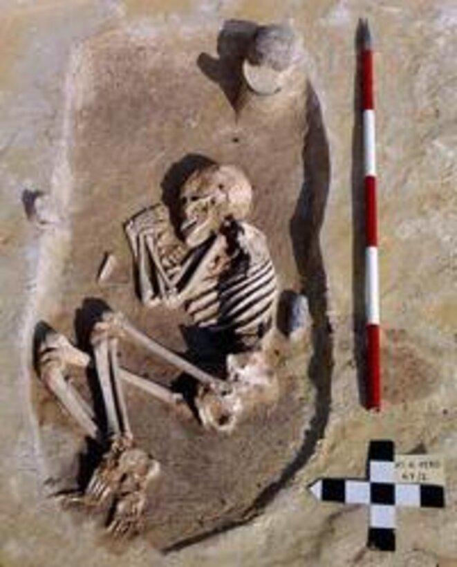 Homme du Néolithique enterré avec une herminette © Universities of Bristol / BDA – Neugebauer