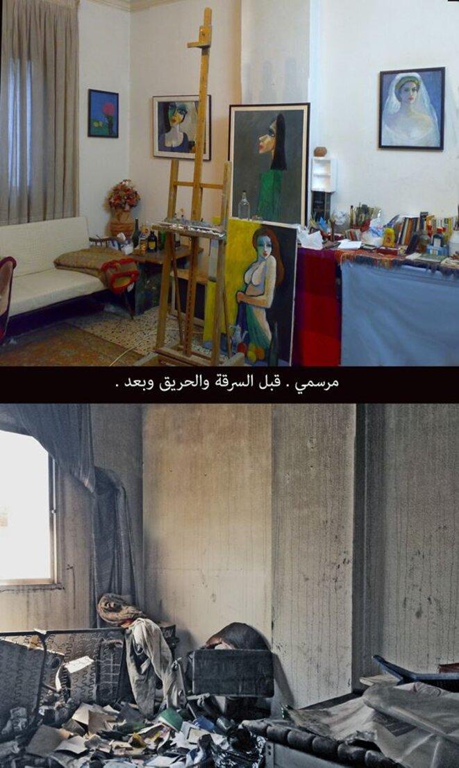 L'atelier de Mahmoud avant et après réquisition
