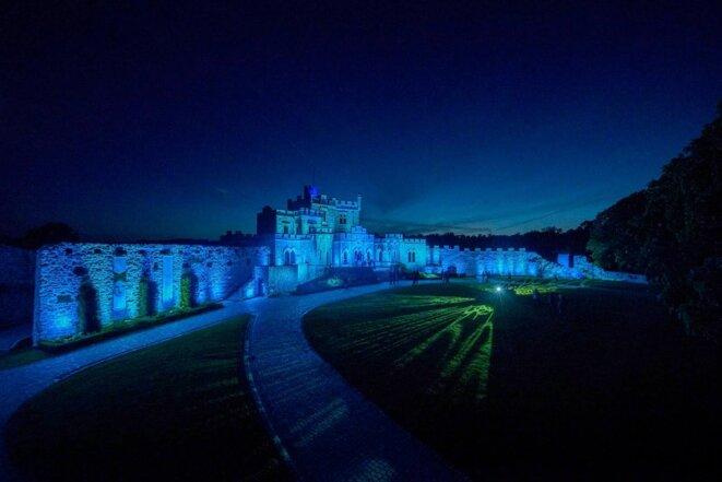 Le Château d'Hardelot de nuit