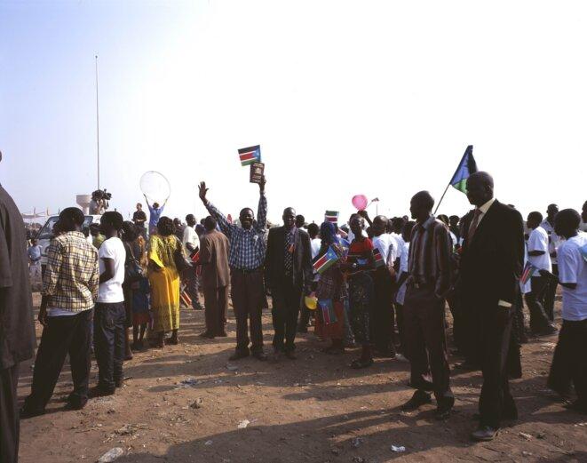 Bruno Serralongue-Pendant la cérémonie officielle de l'indépendance, Juba, Sud-Soudan, 9 juillet 2011