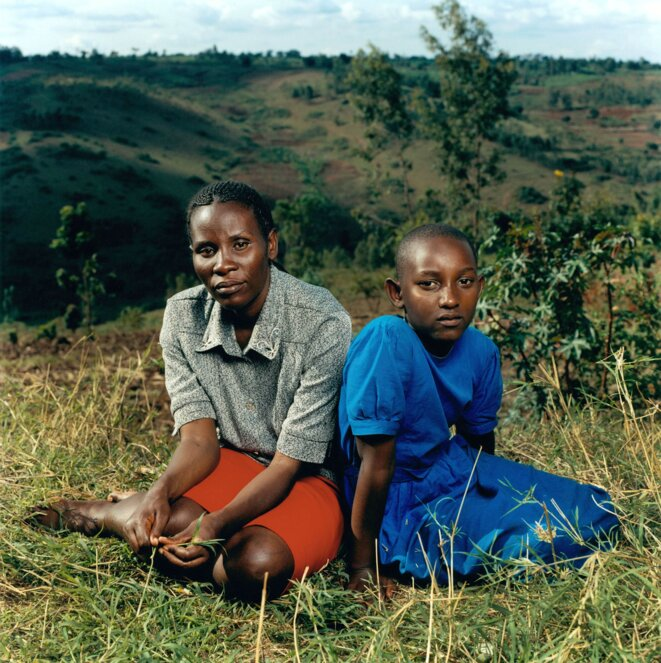 Jonathan Torgovnik - Justin avec sa fille Alice, Rwanda .