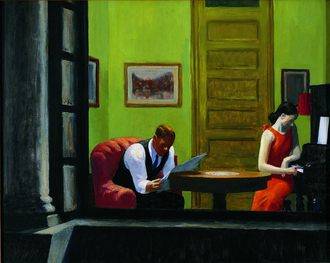 Room in New York, Edward Hopper