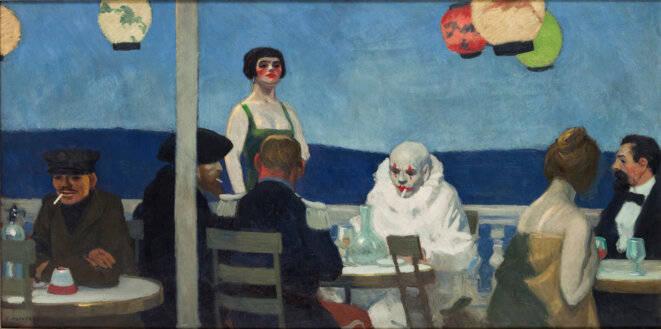 Soir bleu, Edward Hopper