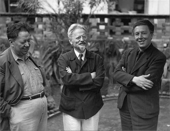 Diego Rivera - Trotski - André Breton © Manuel Alvarez Bravo
