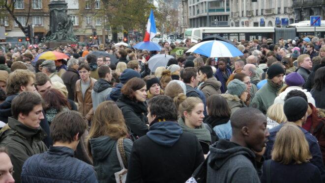 Rassemblement, samedi 14 novembre 2015, à Lille © Mathilde Goanec