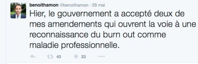 Tweet Benoit Hamon © DR