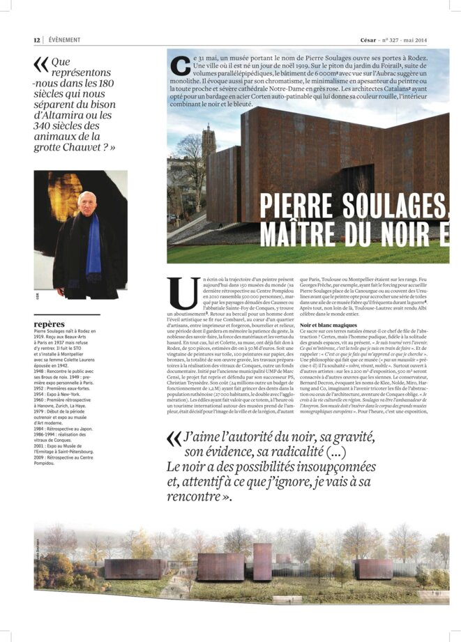 musee pierre soulages in cesar 327 du 2 mai 2014 © JOURNAL CESAR