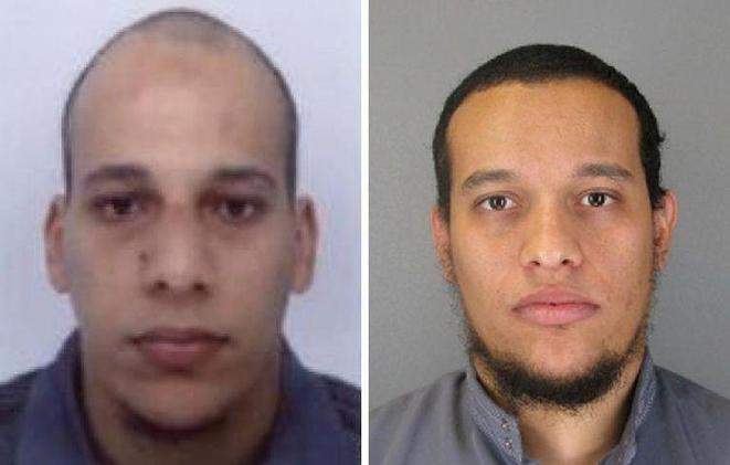 The two men being sought by French police over the Paris killings.