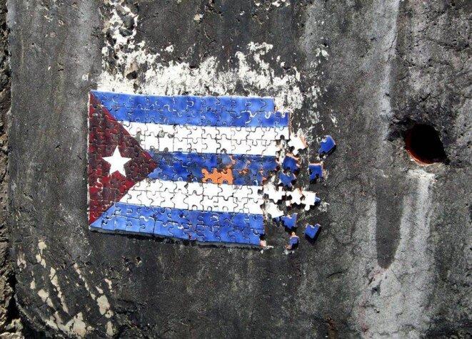 Mur décoré du front de mer de La Havane © DR Raphaël Morán