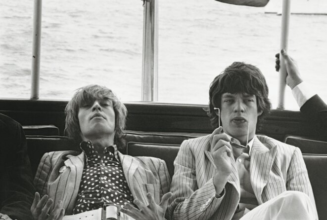 Brian Jones and Mick Jagger, New York, 1966 ©Paul Mc Cartney