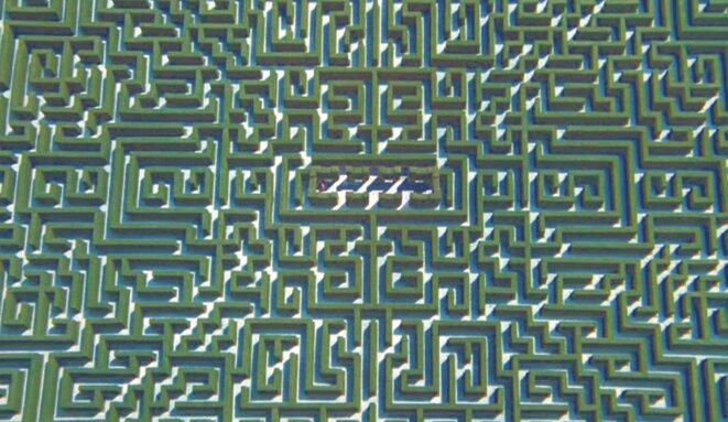 Le labyrinthe de l'Overlook Hotel, dans Shining