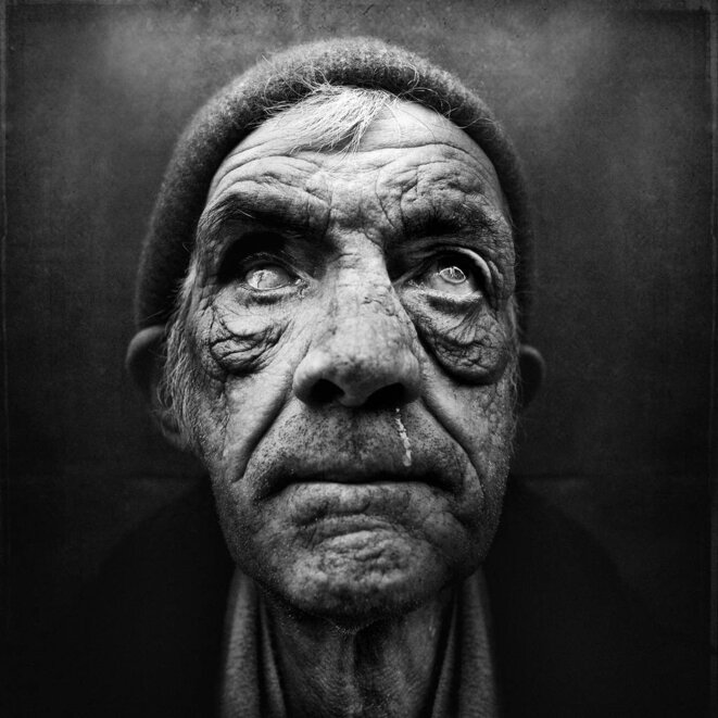 Portait de SDF © Lee Jeffries