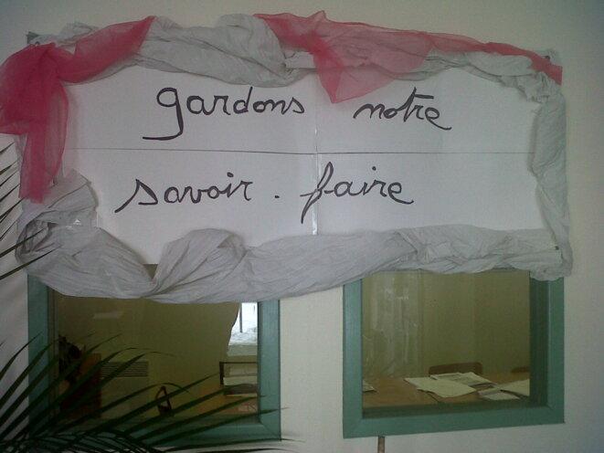 Ce panneau est disposé à l'entrée de l'usine d'Yssingeaux. © FG