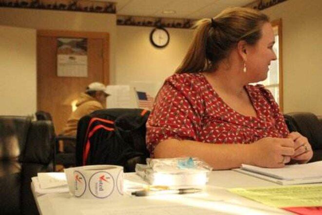 Même dans les plus petites communes américaines, les bureaux de vote sont ouverts de 8h du matin à 8h du soir. © Fanny André