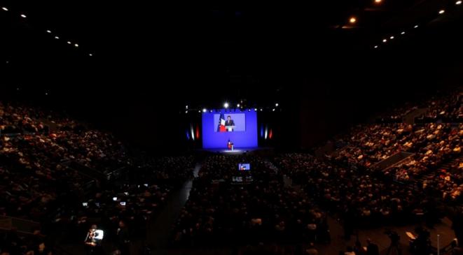 Meeting du président Sarkozy à Toulon, en décembre 2011