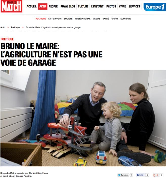 Une photo du couple parue en 2011 dans Paris Match