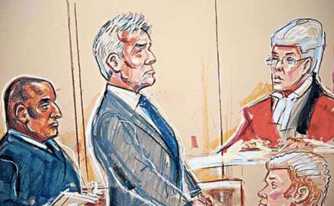 Un dessin paru dans The Telegraph lors du procès de l'ancien député travailliste David Chaytor en 2011