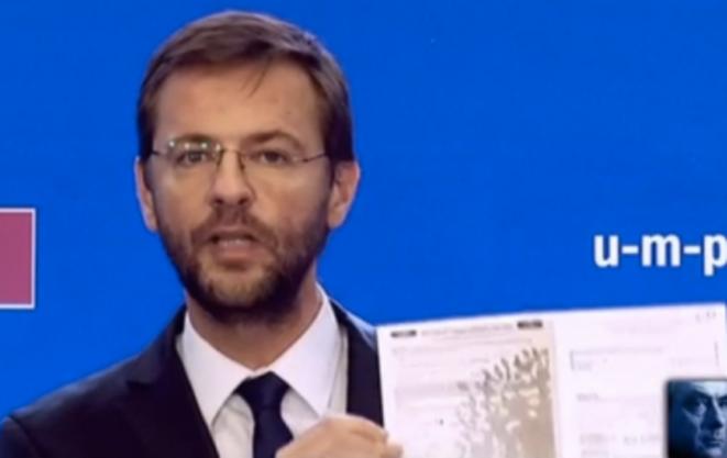 J. Lavrilleux, directeur de cabinet de Copé, lors du vote pour la présidence de l'UMP © Capture BFMTV