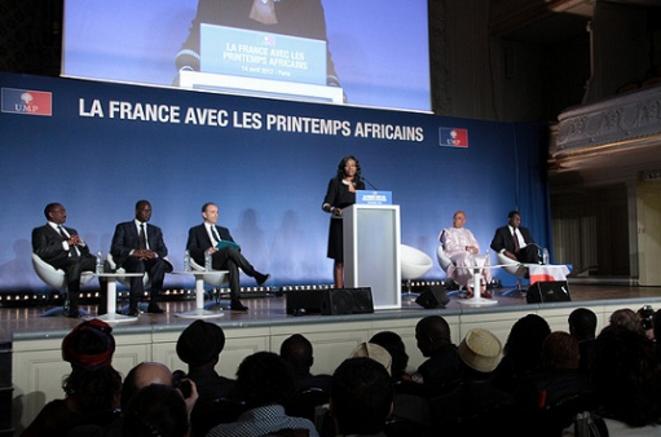 """La réunion sur """"La France avec les printemps africains"""" du 14 avril 2012, bien réelle mais surfacturée à l'UMP  © DR"""